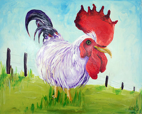 Clarence - Rooster Painting