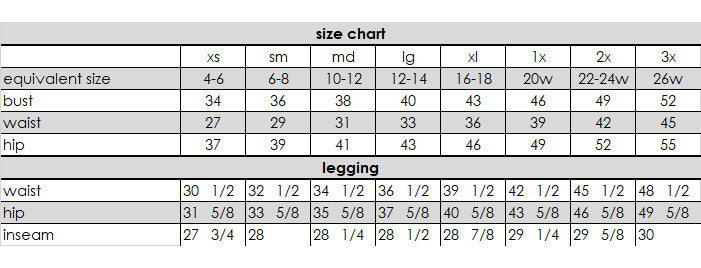 Legging Measurements