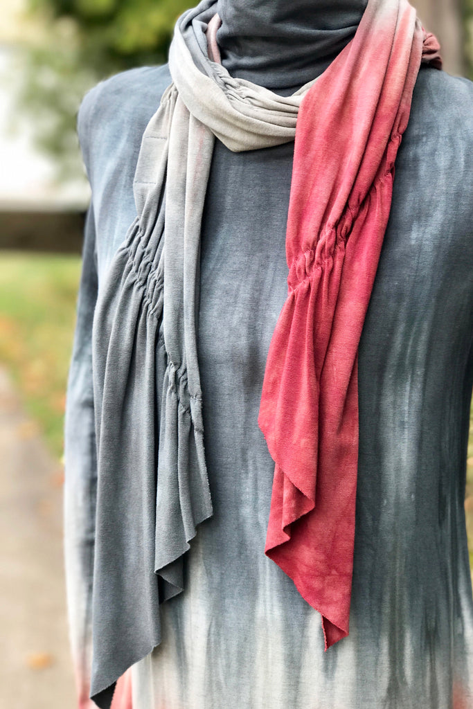 Aly Scarf in Totally Timberwine