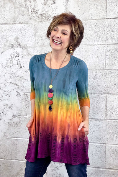Amara Tunic in Tequila Sunrise