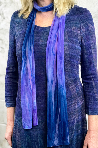 Sherry Scarf in Blue Suede