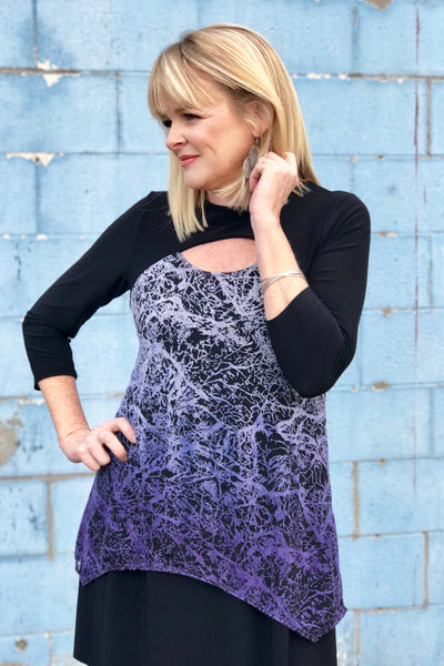 Thalia Tunic in Iced Lavender