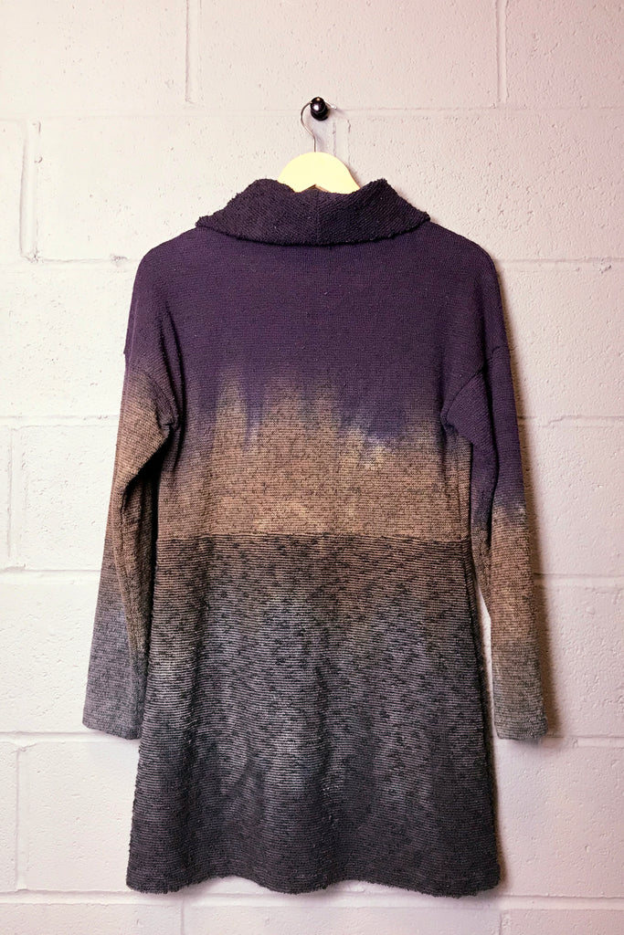 Trinity Sweater Dress in Smoky Plum