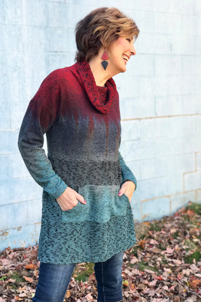 Trinity Sweater Dress in Volcano