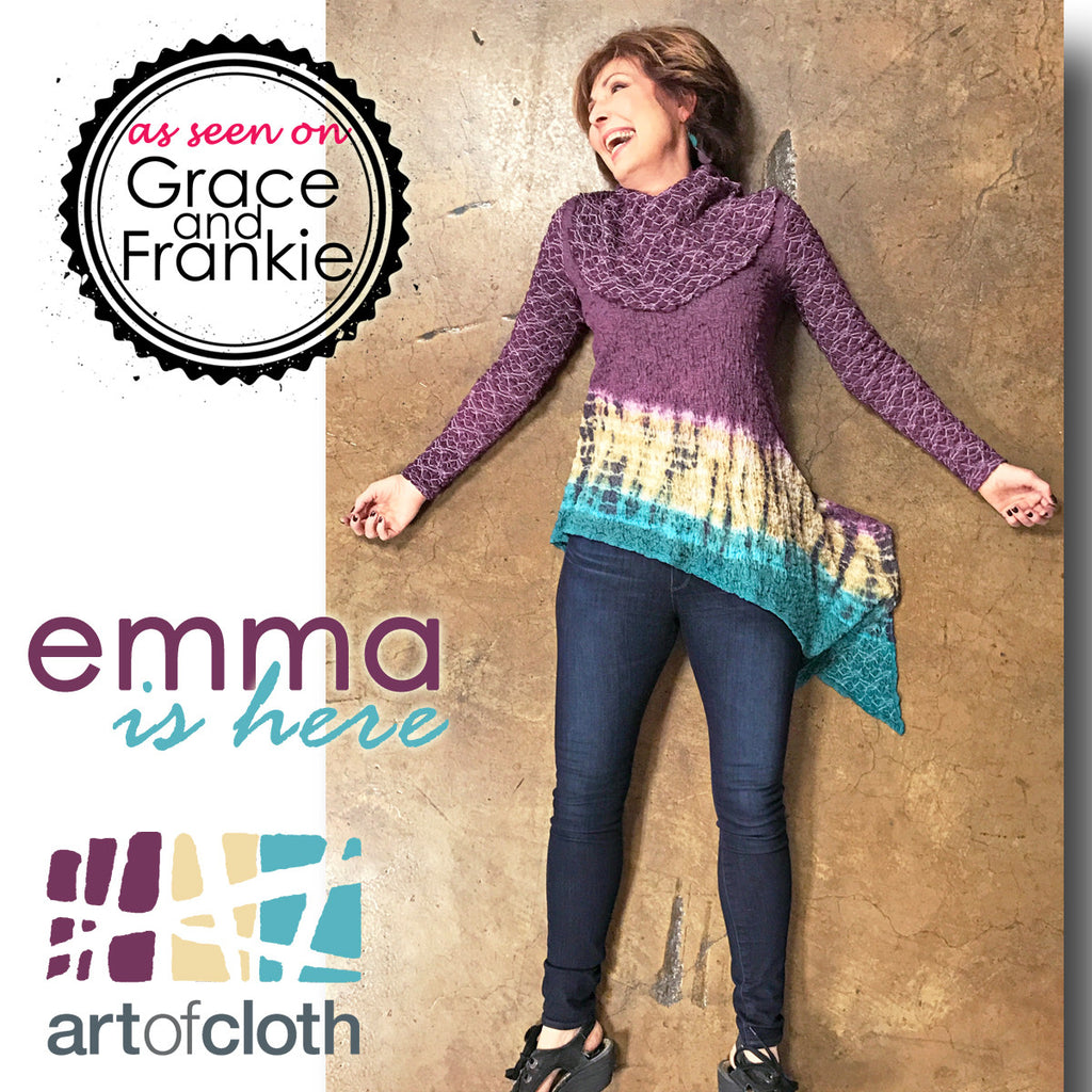 Emma Top in Grape Sky