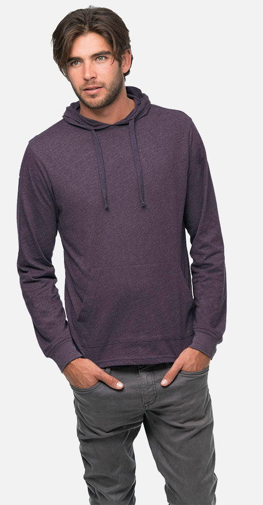 Blended Eco Jersey Pullover Hoodie A Product of econscious Unisex 4.25 oz Bul Charcoal//Black