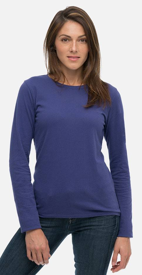 fd57127187d7ea Women s Classic Washed Long Sleeve Organic Tee Shirt