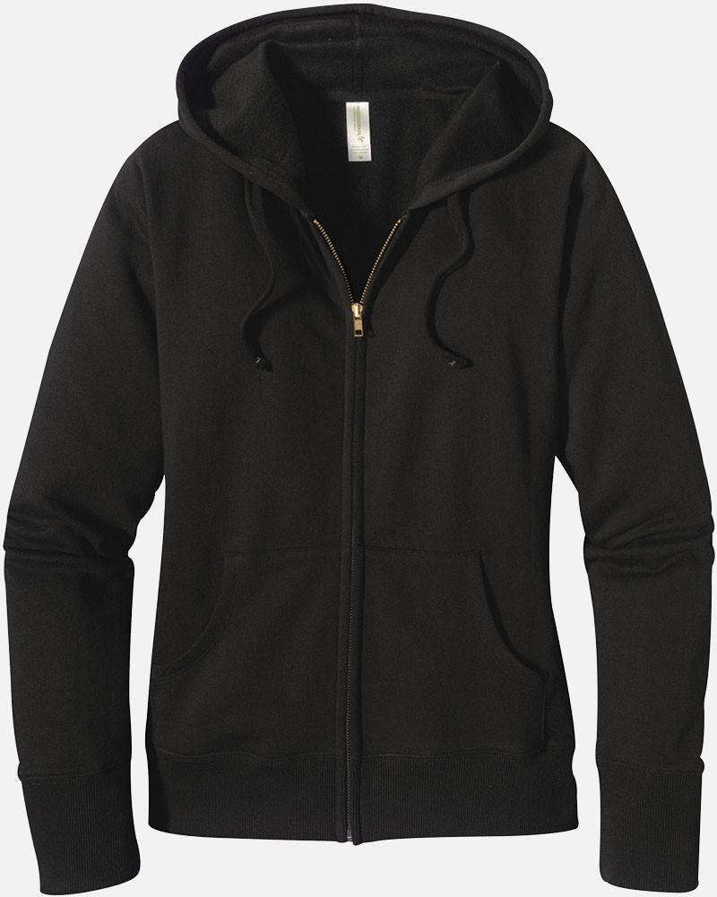 Women's Zip Hoody - Washed Black on Sale, 4501 - econscious