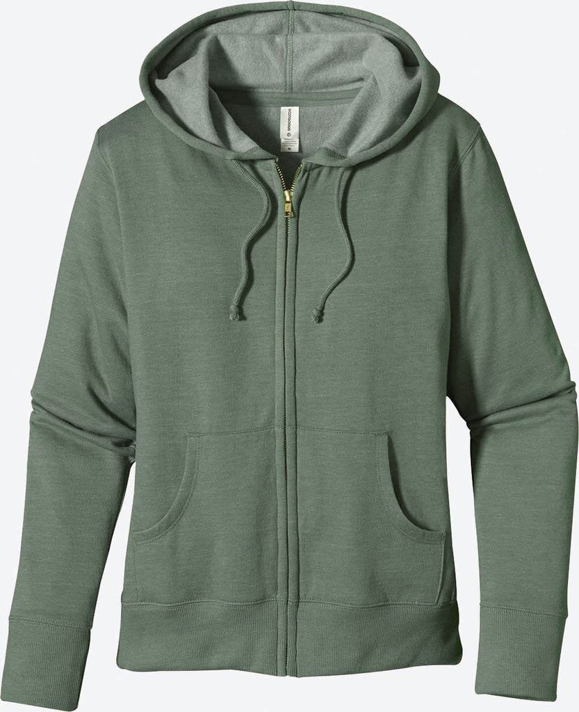 Heathered Fleece Full-Zip Hoody, EC4580 - econscious