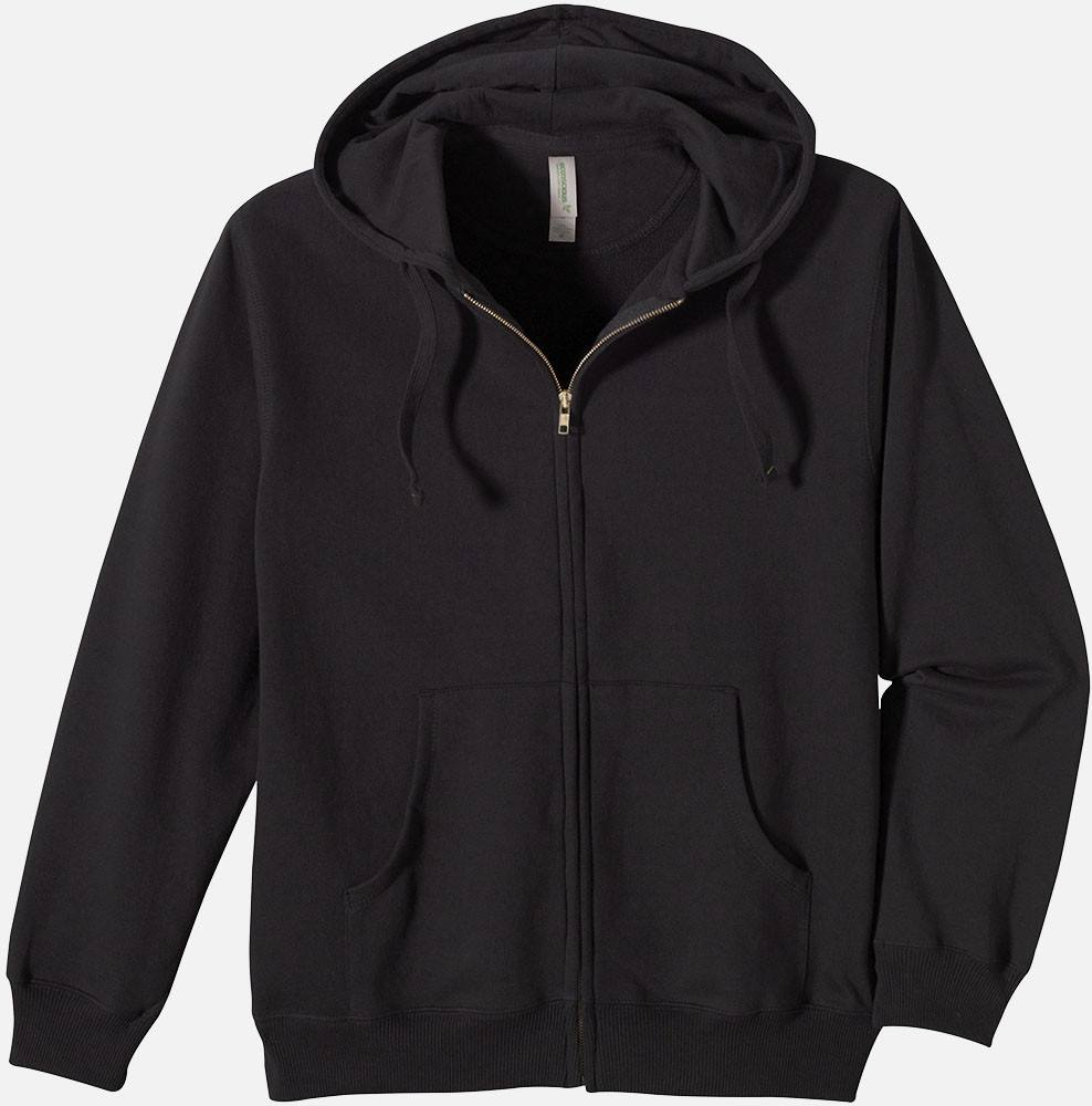 Mens Zip Hoody - Washed Black, 5650 - econscious