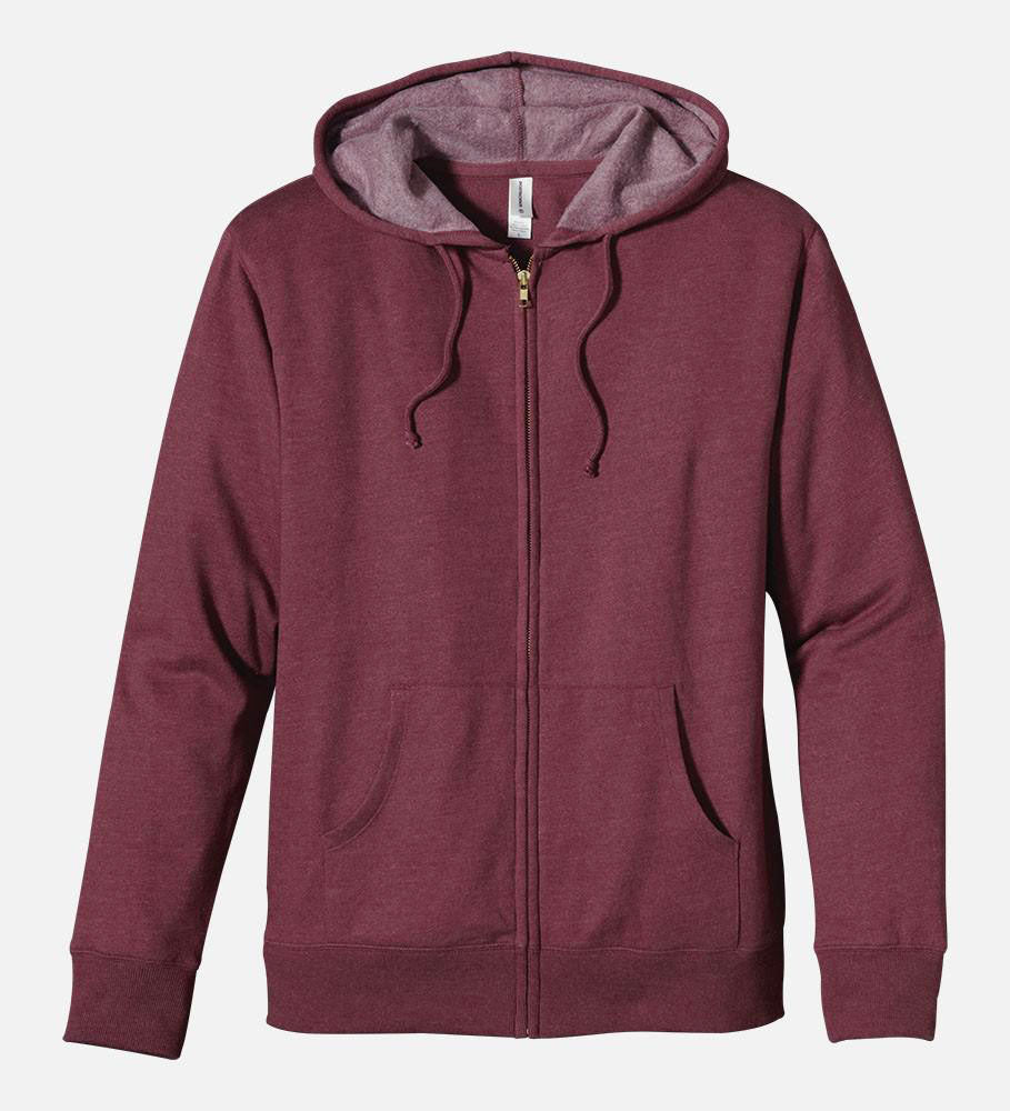 Heathered Full-Zip Hoody - XS, 5680 - econscious