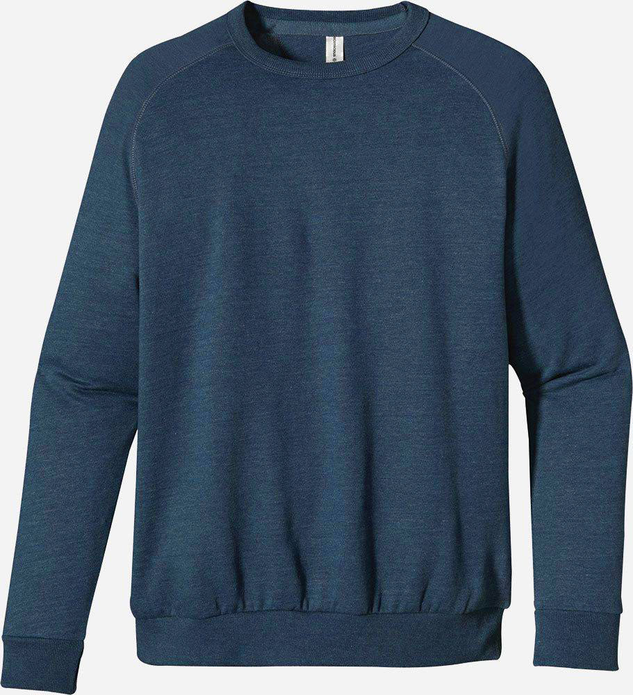 Heathered Fleece Raglan Crew, 5050 - econscious