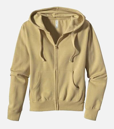 Women's Zip Hoody - Beach, 4501 - econscious