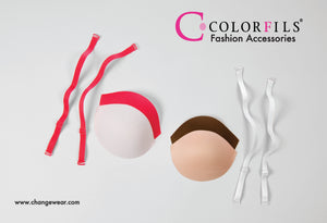 ColorfIls® bra pads and straps