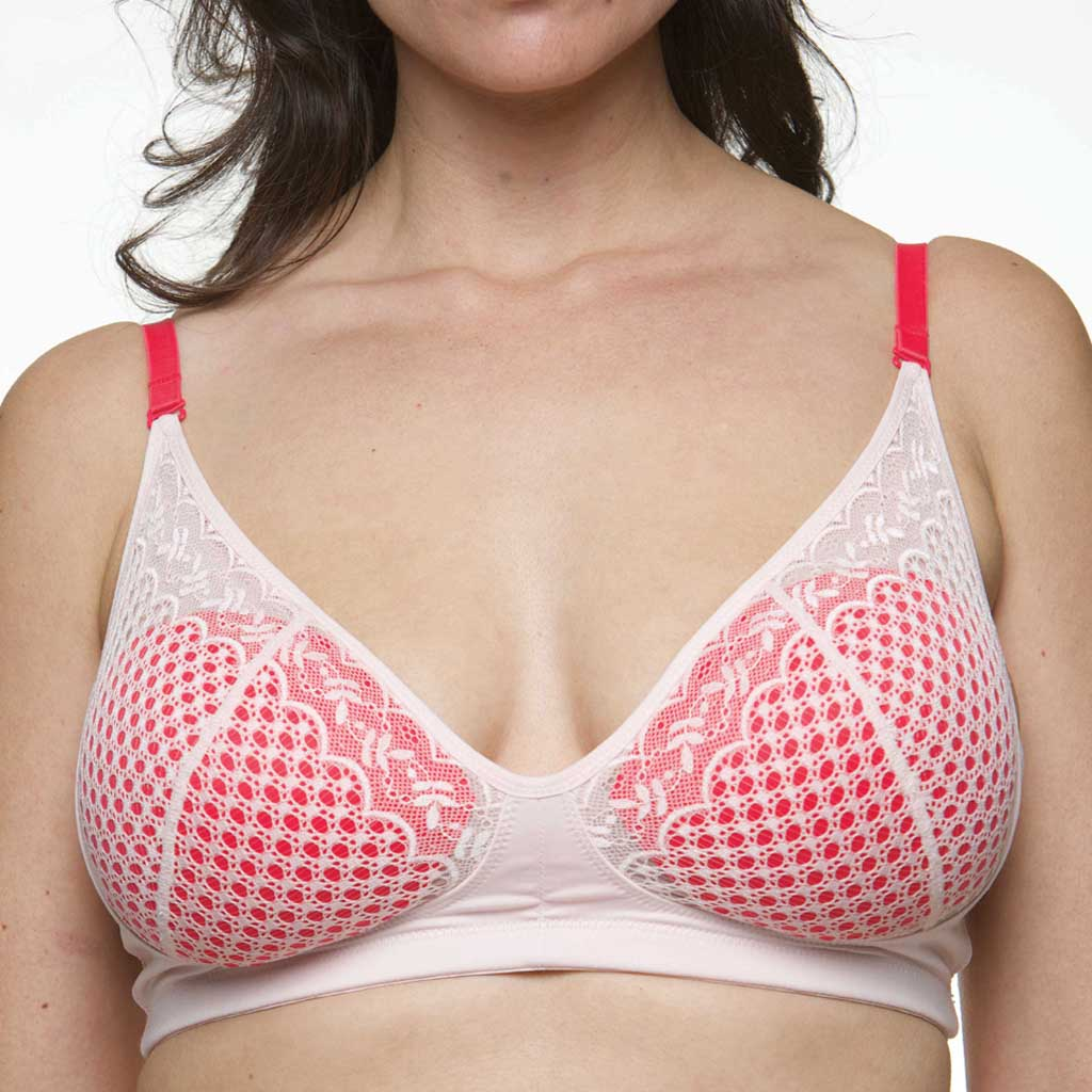 Colorfils in Shock & Awe pink with the Delicate Pink Scarlett Bra