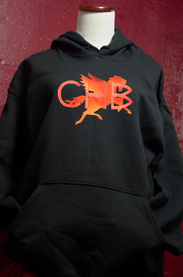"Camp Half-Blood Unisex Adult Hoodie ""Inverse CHB"" Percy Jackson inspired Reversed color Hoodie"