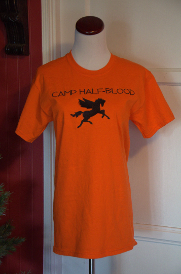 Camp Half-Blood Shirt, Uni-Sex Adult T-Shirt, Thalia or Jason Grace Zeus Cabin