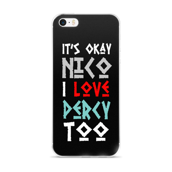 """It's Okay"" Nico Di Angelo Inspired Percy Jackson iPhone Case"