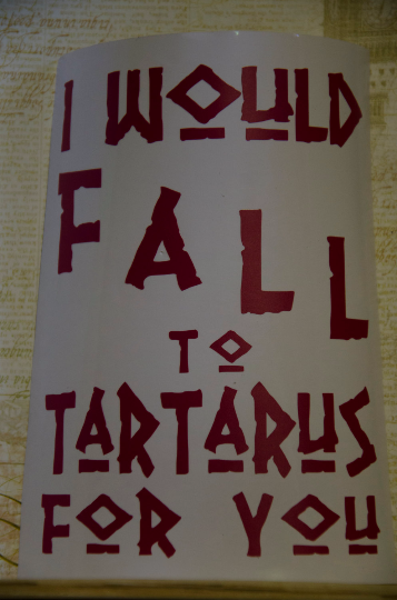 "Vinyl Sticker, Percy Jackson Inspired Camp Half-Blood ""Fall to Tartarus"""