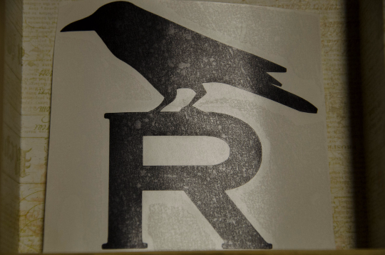 Vinyl Sticker, Harry Potter Inspired House Raven, Car or Misc. Decal, White or Black