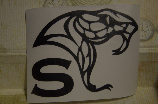 Vinyl Sticker, Harry Potter Inspired House Snake, Car or Misc. Decal, White or Black