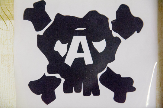 "Vinyl Sticker, Final Fantasy 7 Inspired Avalanche Logo ""Skull"", Decal, White or Black,"