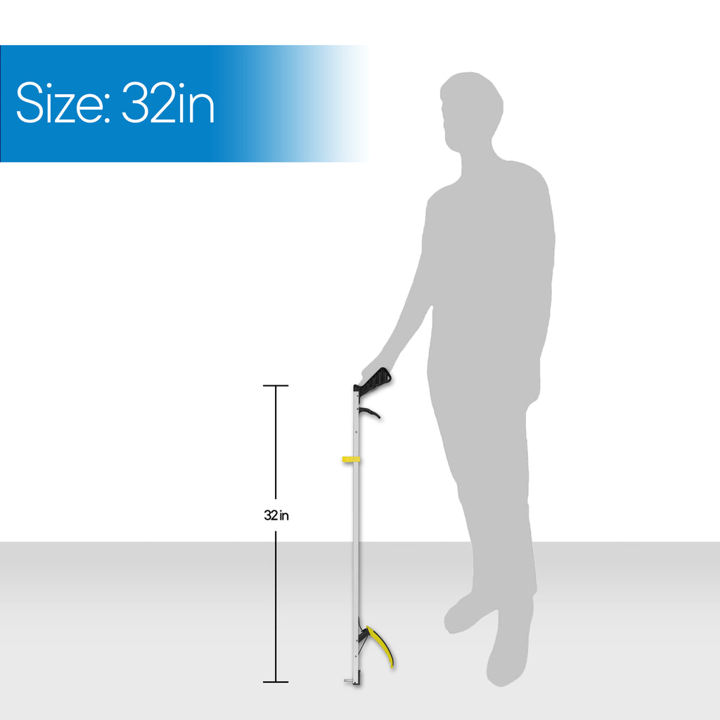 "RMS Health - 32"" Long Grabber Reacher with Magnetic Tip"