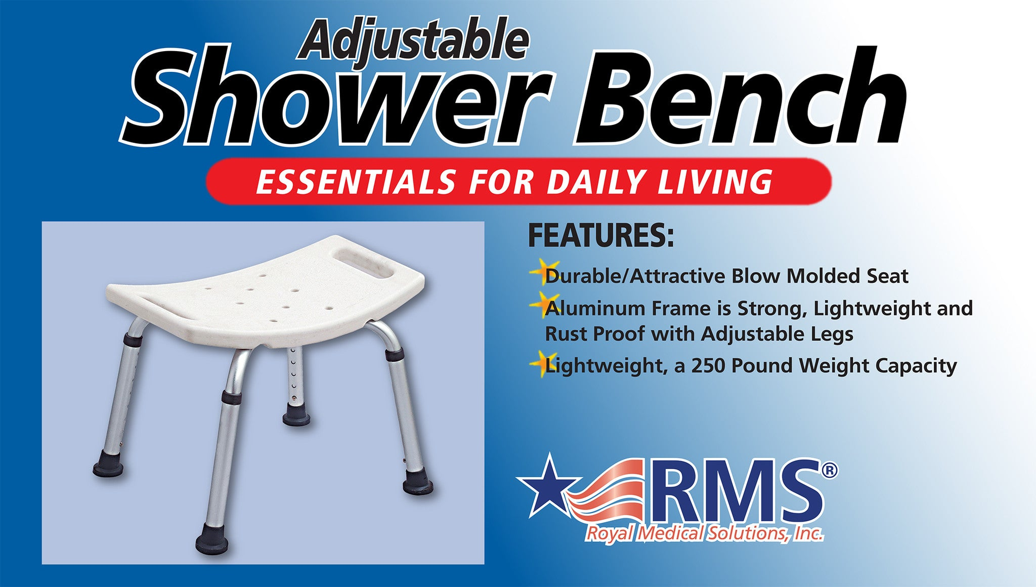 RMS Bath and Shower Bench – My RMS Store
