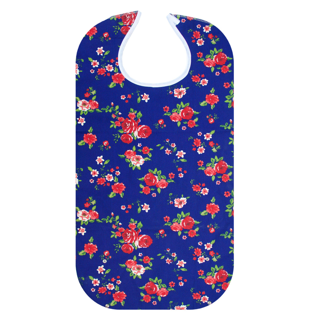 RMS Health - Blue Rose Washable Reusable Waterproof Adult Bib