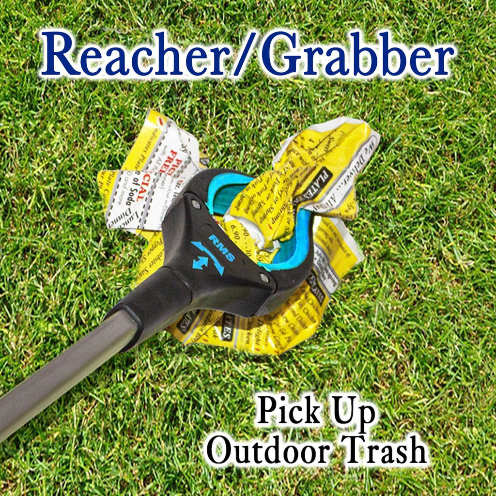 "RMS - 2-Pack 32"" Blue Grabber Reacher with Rotating Head"