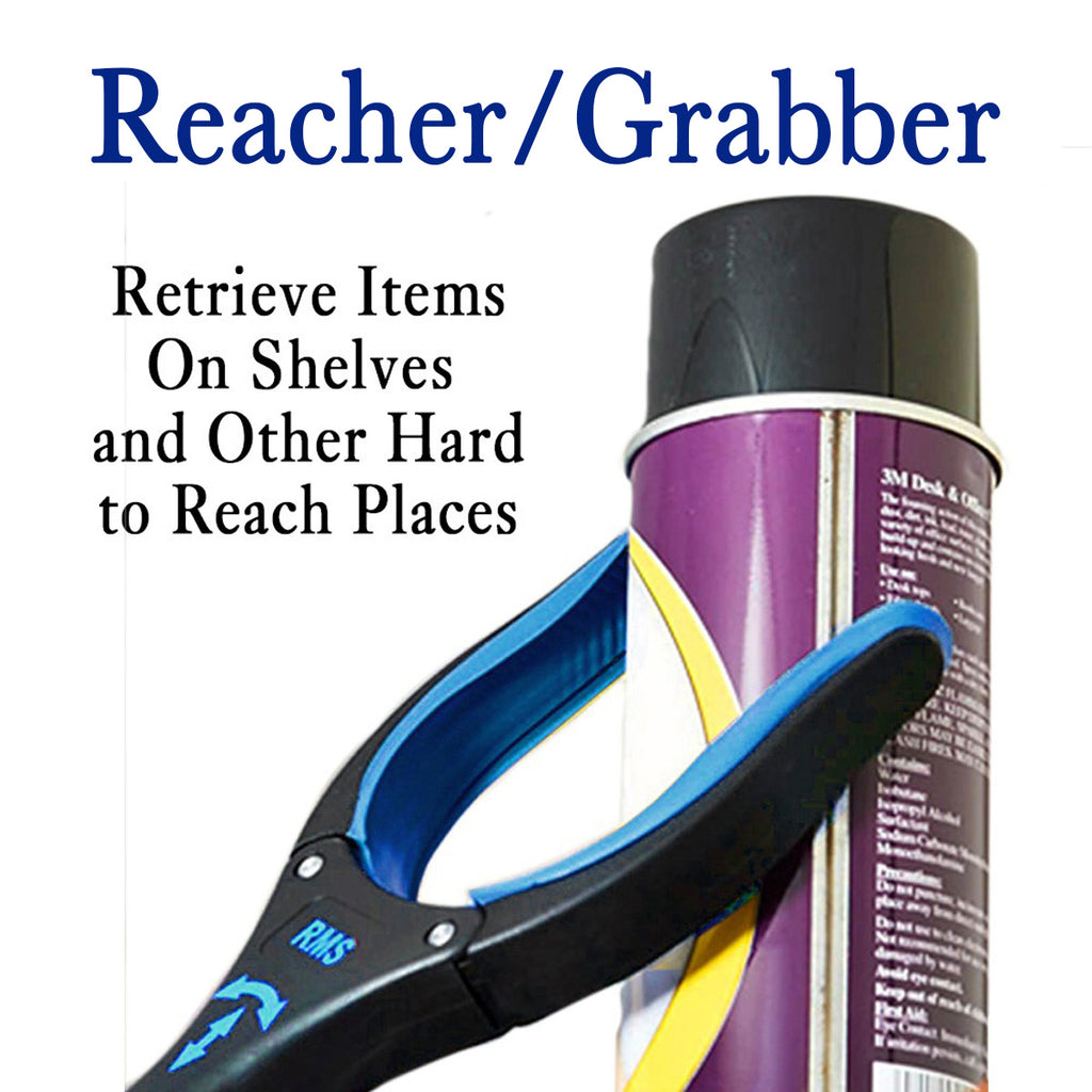 "RMS Health - 2-Pack 32"" Blue Grabber Reacher with Rotating Head - 1"