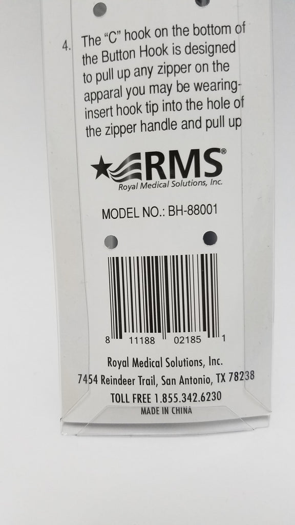 RMS - Button Hook with Zipper Pull