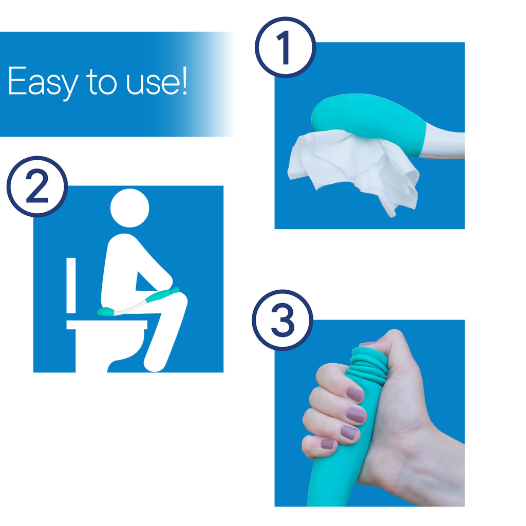 RMS HEALTH - Long Reach Comfort Wipe | Self Assist Toilet Aid | Ideal Daily Living Bathroom Aid for Limited Mobility