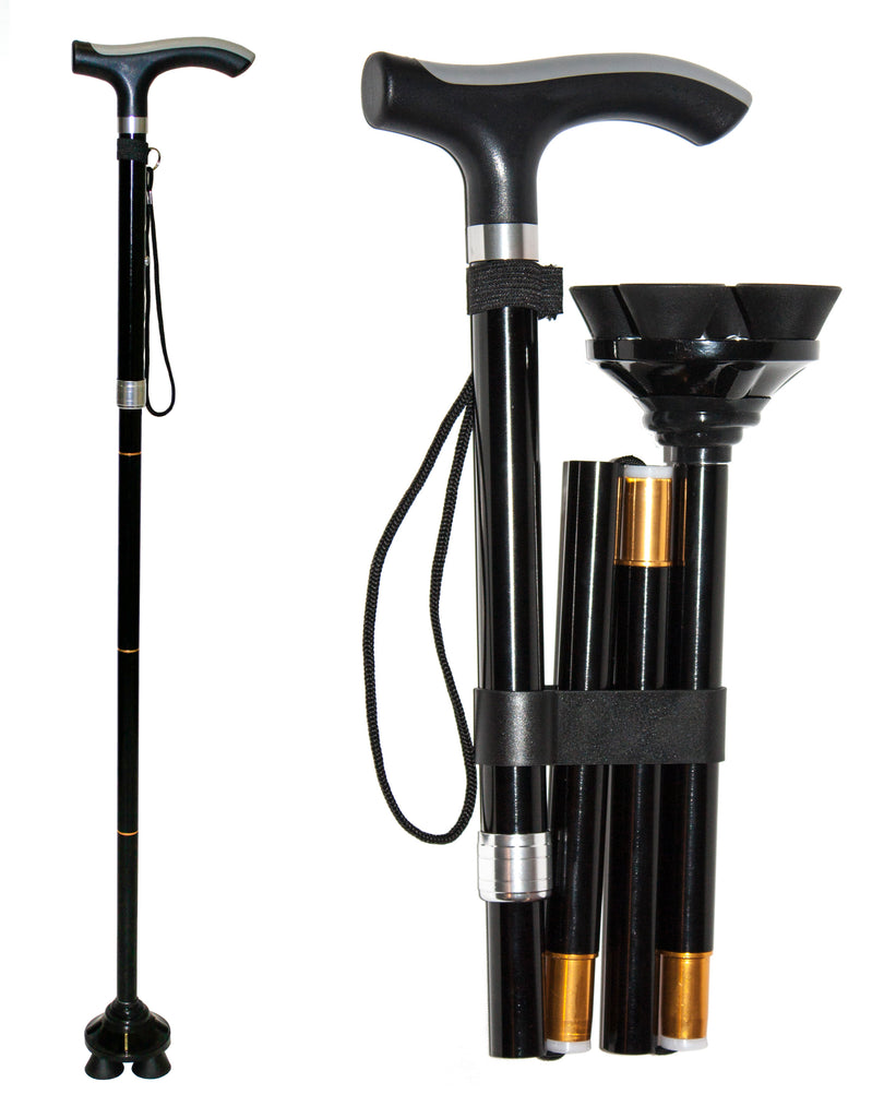 RMS Outdoors - Folding Cane with Quad Base