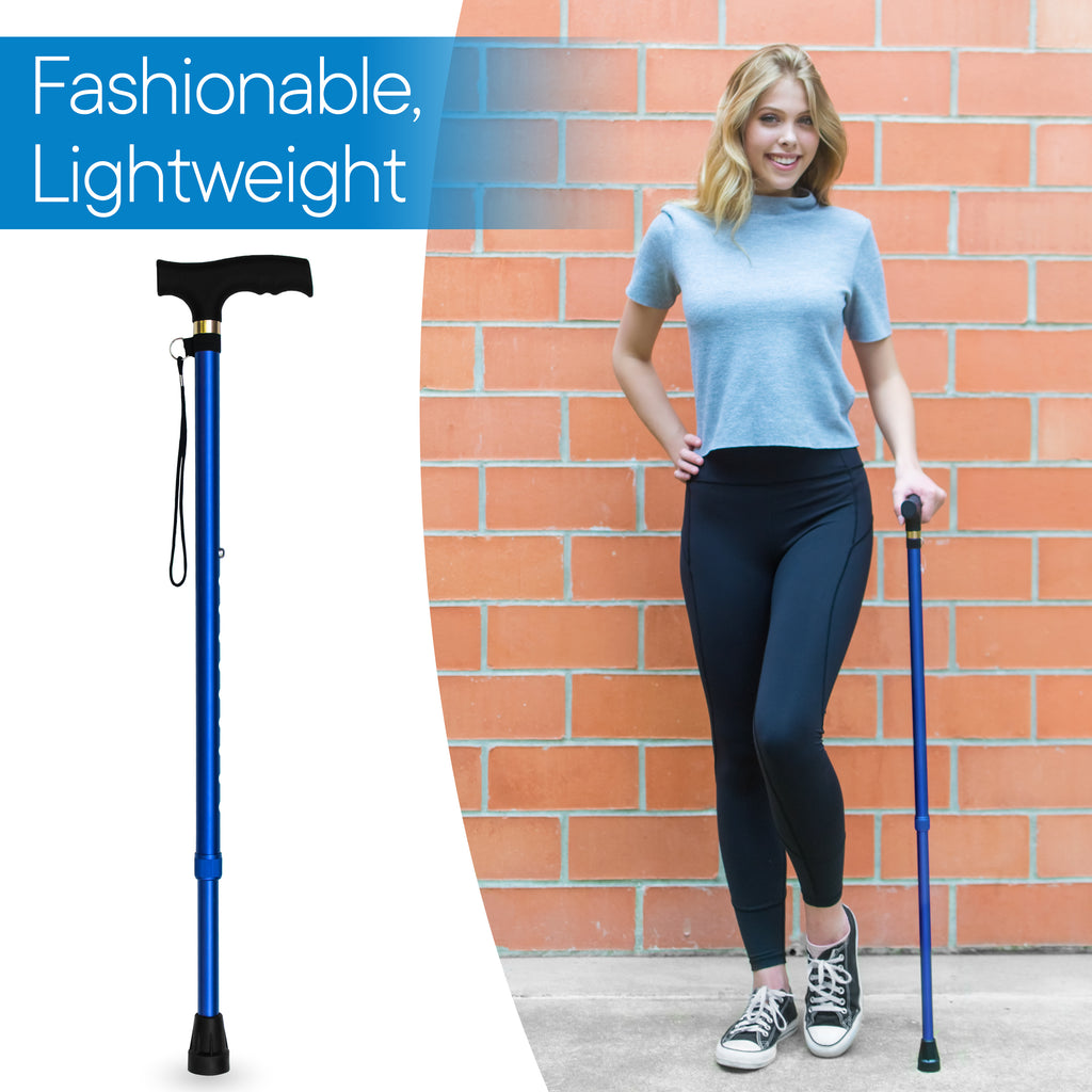 RMS - Blue Adjustable Walking Cane