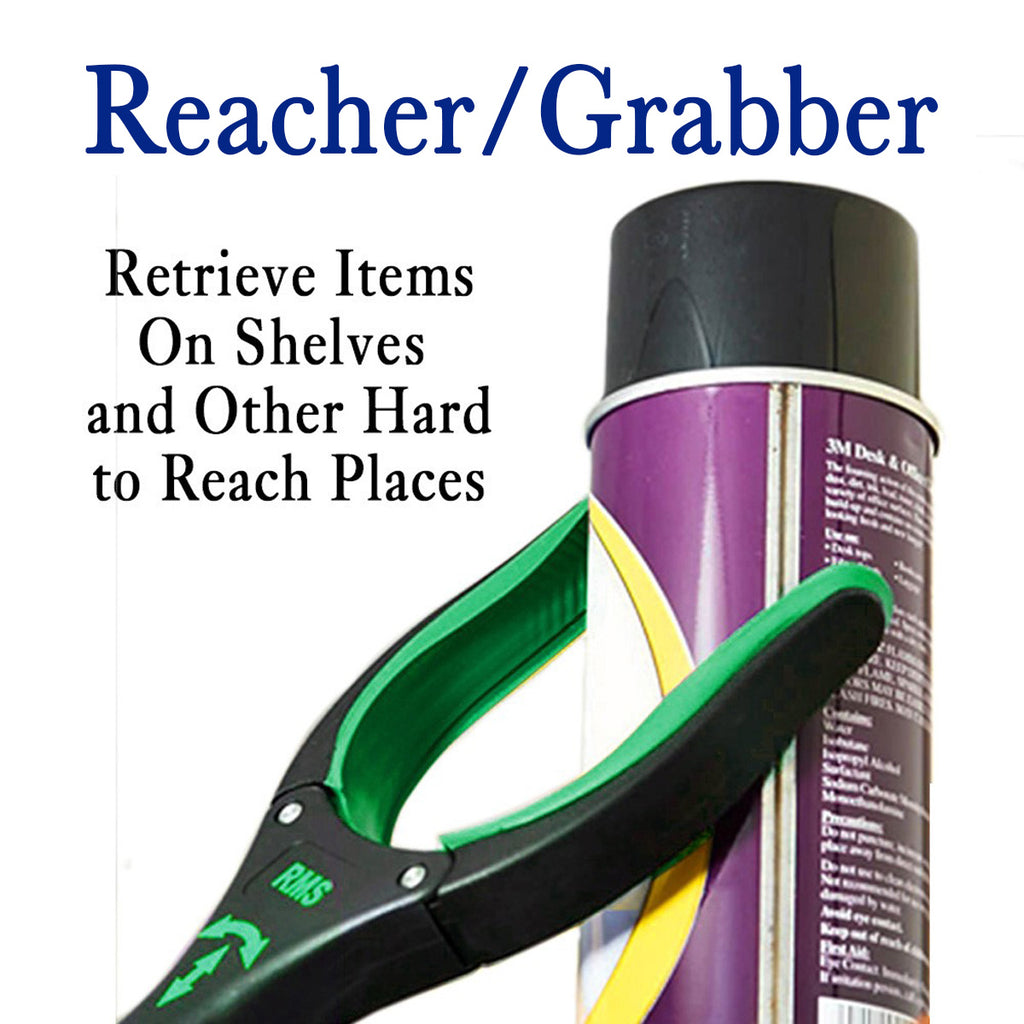 "RMS Health - 26"" Green Grabber Reacher with Rotating Head"