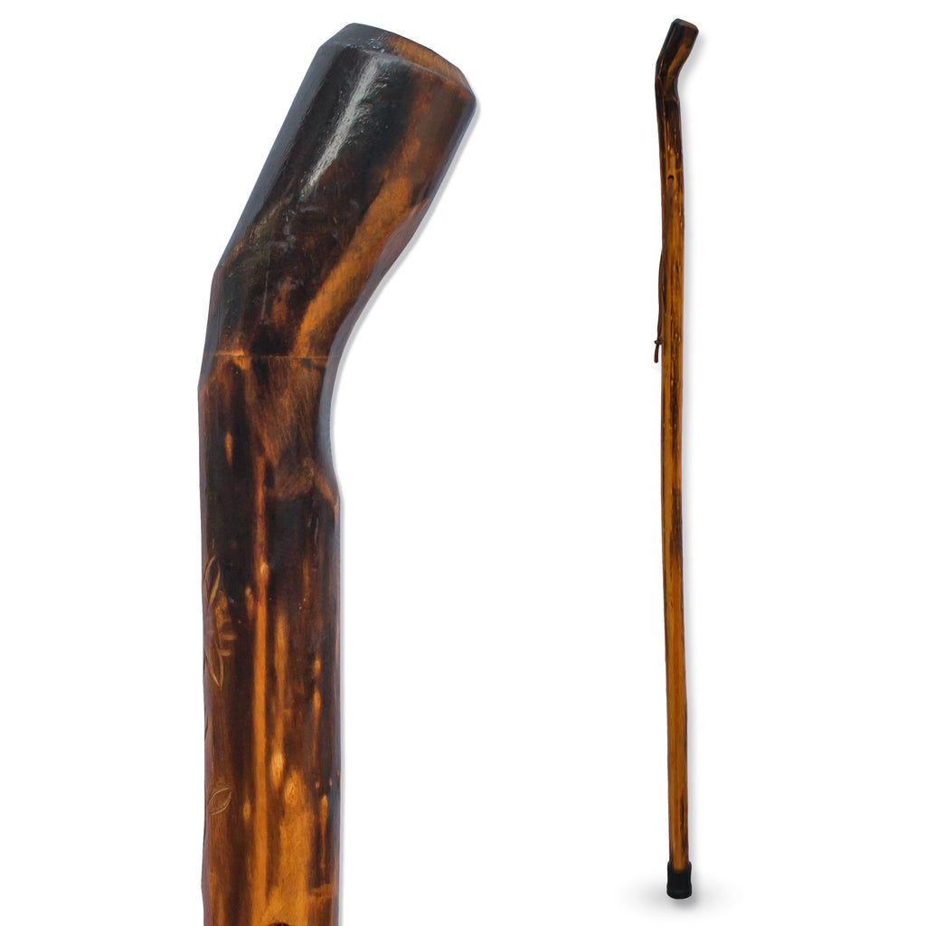 "RMS - 48"" Natural Wood Hiking/Walking Stick Smooth Handle"