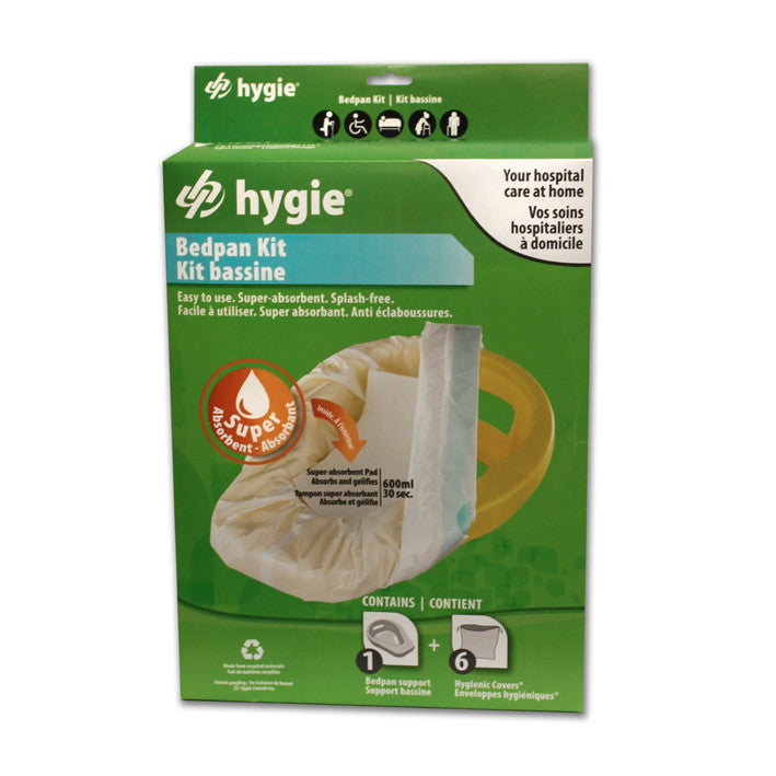Hygie® Bedpan Kit with Super Absorbent Pad