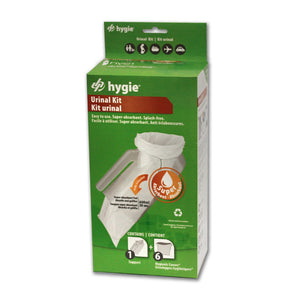 Hygie® Urinal Kit with Super Absorbent Pad