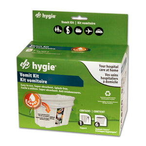 Hygie® Vomit Bag Support Kit with Super Absorbent Pad