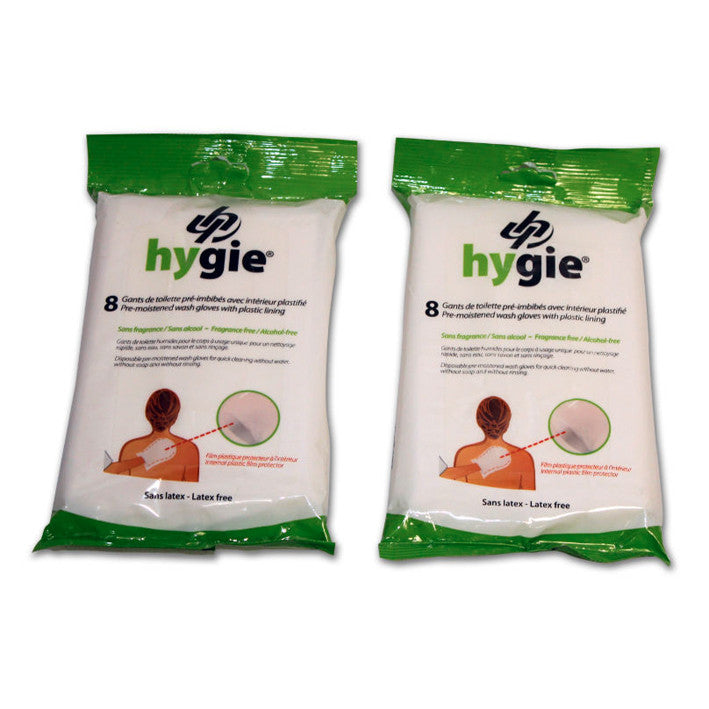 Hygie® Pre-moistened Wash Gloves