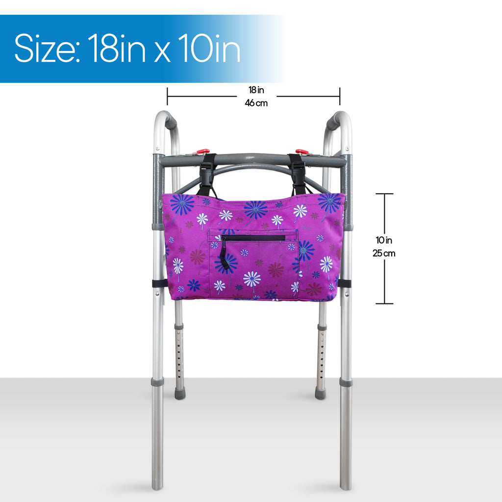 RMS - Purple Flower Walker Bag with Soft Cooler