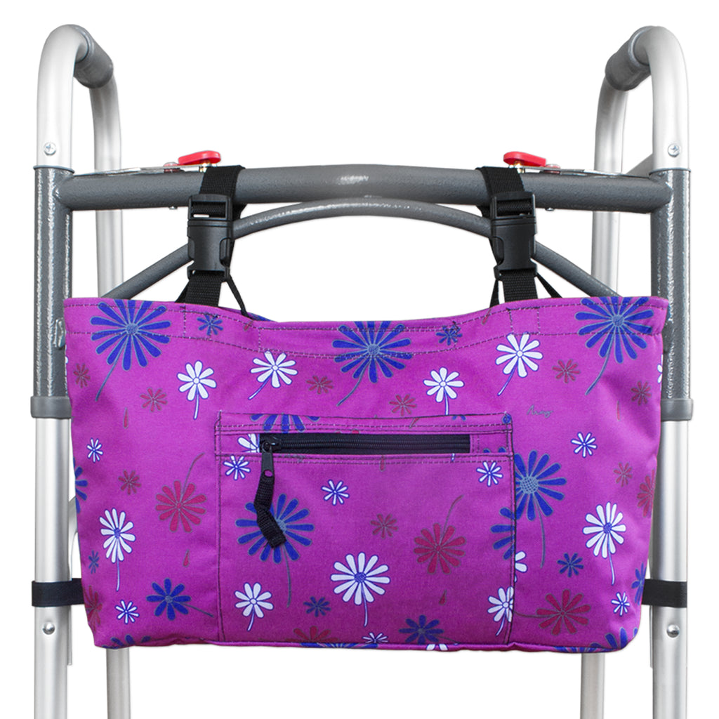 RMS Health - Purple Flower Walker Bag with Soft Cooler