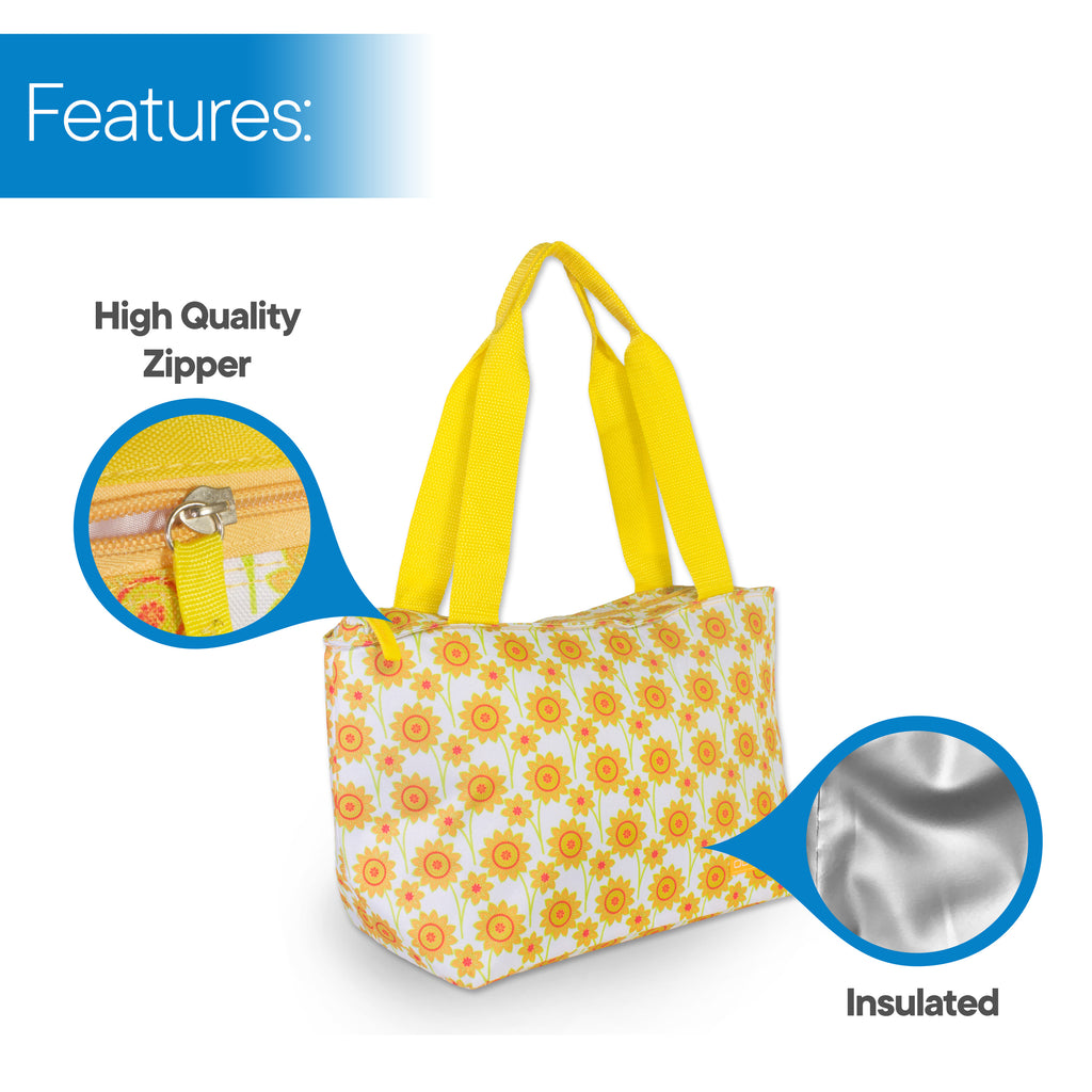 RMS - 8 Can Cooler Tote (Yellow Flower)