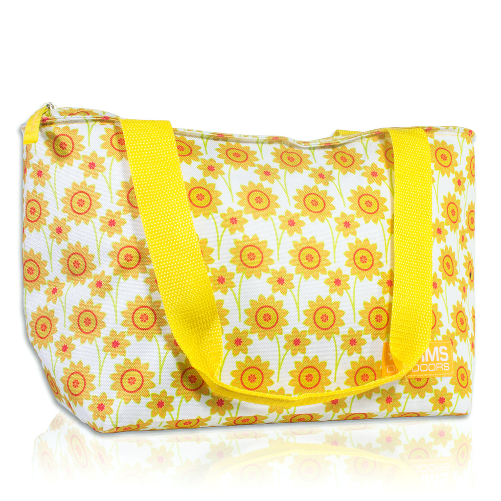 RMS Outdoors - 8 Can Cooler Tote (Yellow Flower)