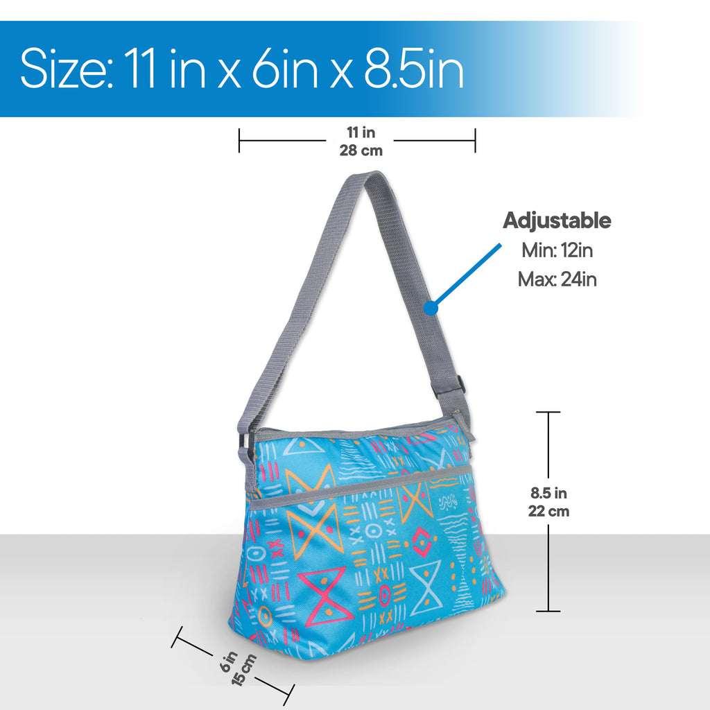 RMS Outdoors - 8 Can Sling Cooler (Blue Hourglass)