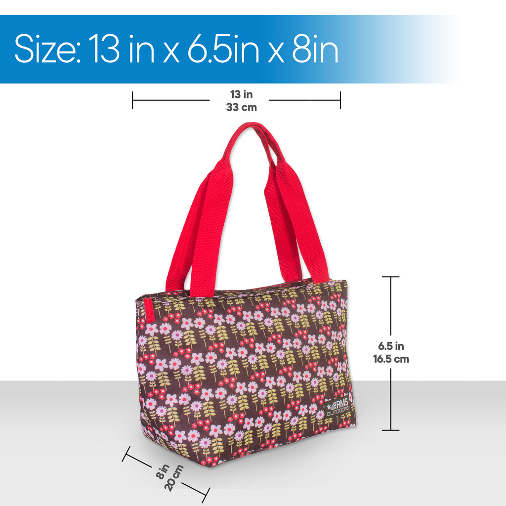 RMS - 8 Can Cooler Tote (White Flower)