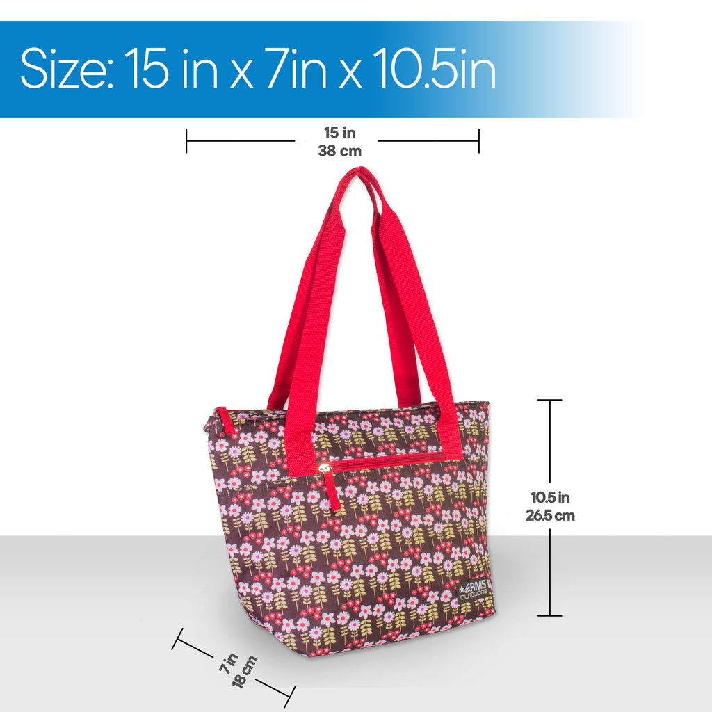 RMS - 14 Can Cooler Tote (White Flower)