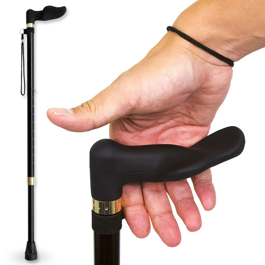 RMS - Walking Cane with Palm Grip Orthopedic Handle for Right Hand