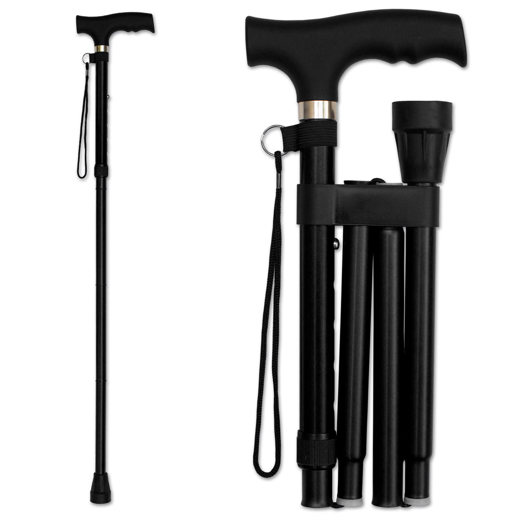 RMS - Black Folding Cane with Adjustable Height